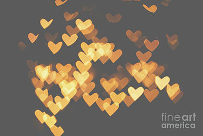 Photograph - Heart Bokeh by Mariusz Talarek