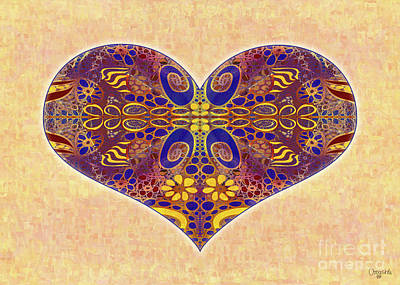 Digital Art - Heart Illustration - Exploding Possibilities - Omaste Witkowski by Omaste Witkowski