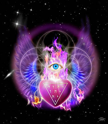 Digital Art - Heart Of The Divine by Endre Balogh