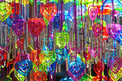 India Photograph - Heart Shaped Wind Chimes, India by Stuart Dee