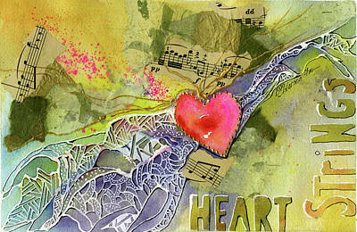 Painting - Heart Strings by Joan Chlarson