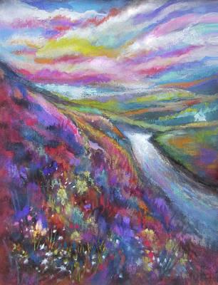 Pastel - Heathered Hills by Jean Batzell Fitzgerald