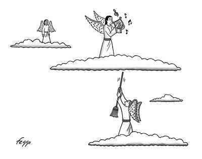 Drawing - Heavenly Music by Felipe Galindo