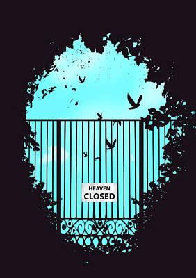 Sky Mixed Media - Heaven's Door by Balazs Solti