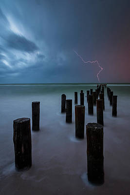 Naples Beach Wall Art - Photograph - Heaven's Torch by Mike Lang