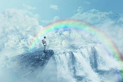 Fantasy Royalty-Free and Rights-Managed Images - Heavens Waterfall by Psycho Shadow
