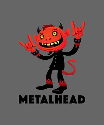 Royalty-Free and Rights-Managed Images - Heavy Metal Devil Metalhead by John Schwegel