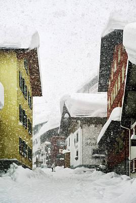 Tyrol Wall Art - Photograph - Heavy Snowfall Over Stuben, St Anton by Christian Aslund