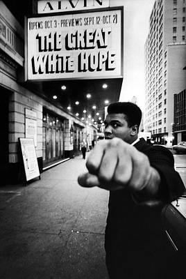 Photograph - Heavyweight Boxer Ali And, Aka Muhammad by Bob Gomel