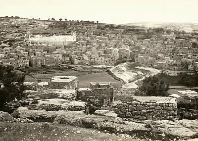 Photograph - Hebron 1862 by Munir Alawi