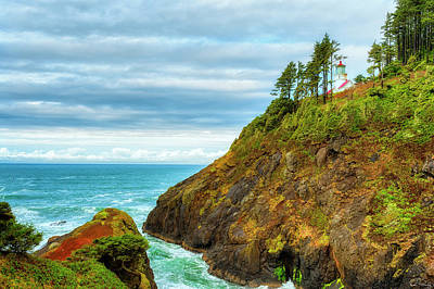 Photograph - Heceta Head Light House by Dee Browning