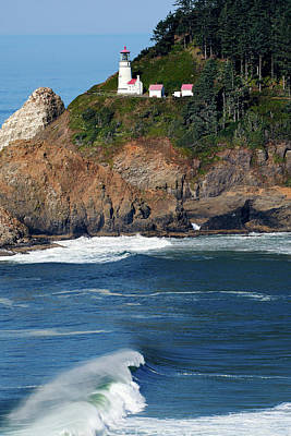 Photograph - Heceta Head Lighthouse Oregon 030519 by Rospotte Photography