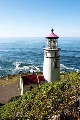 Photograph - Heceta Head Lighthouse Oregon V2 101718 by Rospotte Photography