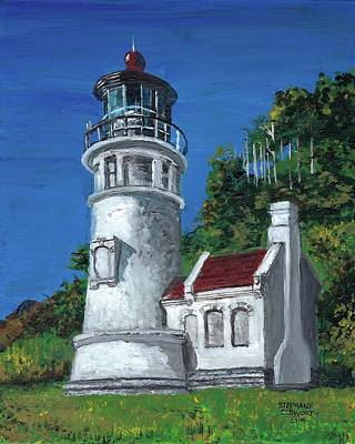 Painting - Heceta Head Lighthouse by Stephany Elsworth