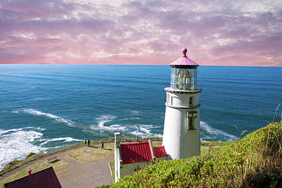 Photograph - Heceta Hed Lighthouse Comp 112218 by Rospotte Photography