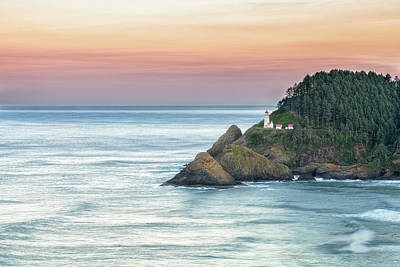 Photograph - Heceta Lighthouse by Russell Pugh
