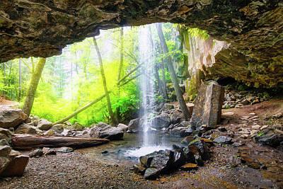 Photograph - Hedge Creek Falls by Leland D Howard