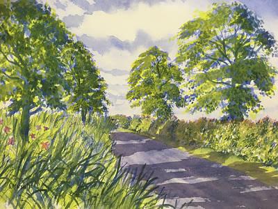 Hedgerows On Rudston Road Art Print