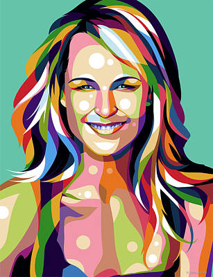 Vintage Diner Cars - Helen Hunt by Stars on Art
