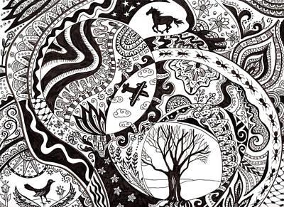 Ant Digital Art - Helen Lurye, Old Tree by Superstock