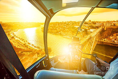 Photograph - Helicopter On Porto by Benny Marty