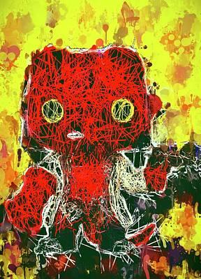 Mixed Media - Hellboy by Al Matra