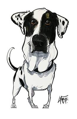 Drawing - Hellmich 5145 Maybelle by John LaFree