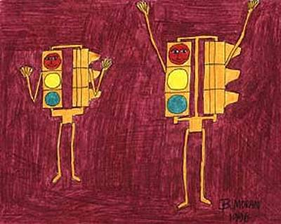 Drawing - Hello And Hooray by Barb Moran