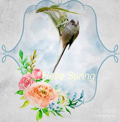 Mixed Media - Hello Spring by Eva Lechner