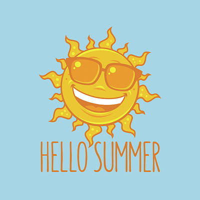 Royalty-Free and Rights-Managed Images - Hello Summer Sun With Sunglasses by John Schwegel
