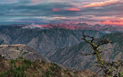 Hells Canyon Sunset 2 Art Print by Leland D Howard