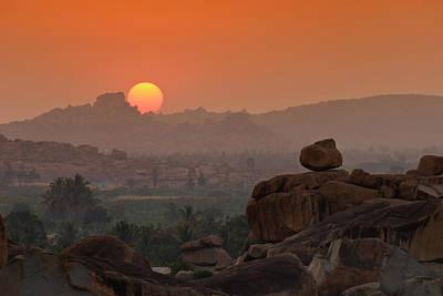 Karnataka Photograph - Hemakuta Hill, Sunset by John Elk Iii
