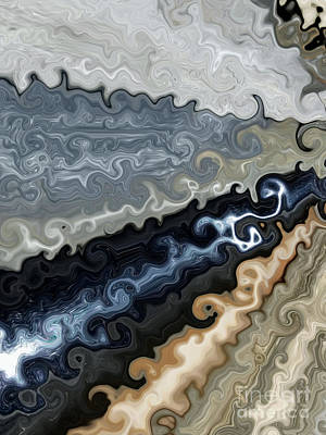 Digital Art - Hematite And River Rock Alchemy by Rachel Hannah