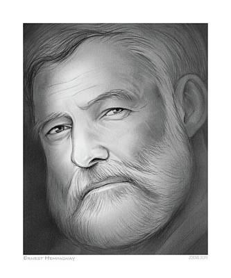 Drawings - Hemingway by Greg Joens