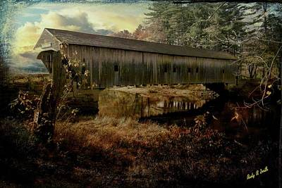 Digital Art - Hemlock Covered Bridge,fryburg Maine. by Rusty R Smith