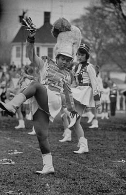 Photograph - Hempstead Hs Majorette Eileen Seale Twir by Gordon Parks