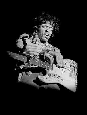 Photograph - Hendrix At Monterey by Ed Caraeff/morgan Media