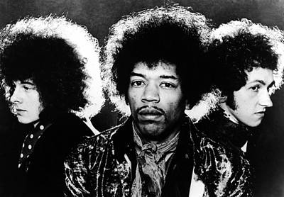 Photograph - Hendrix Experience by Hulton Archive