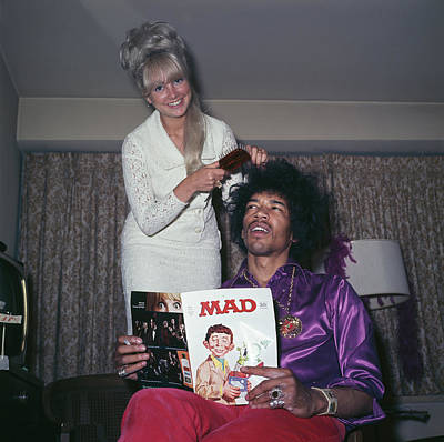 Photograph - Hendrix Hair by Rolls Press/popperfoto