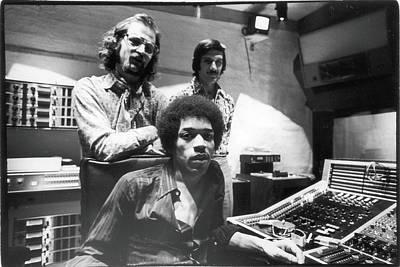 Hendrix, Kramer, & Marron At Electric Art Print by Fred W. McDarrah