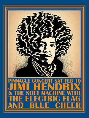 Hendrix Pinnacle Concert Art Print