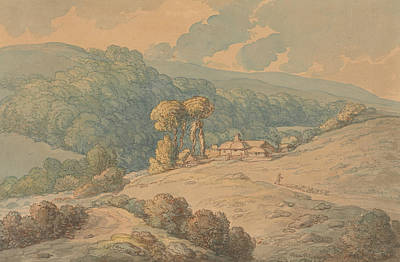 Drawing - Hengar Wood, St. Tudy, Cornwall by Thomas Rowlandson