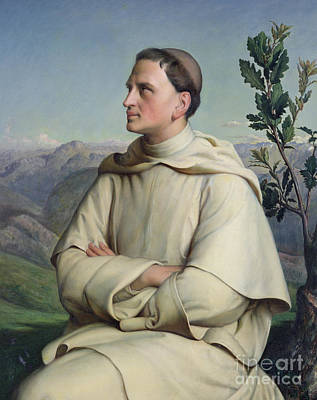 Painting - Henri Lacordaire At Sorreze, 1847 by Louis Janmot