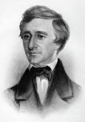 Drawing - Henry David Thoreau by Samuel Worcester Rowse