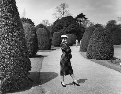 Photograph - Hepburn At Kew by Bert Hardy