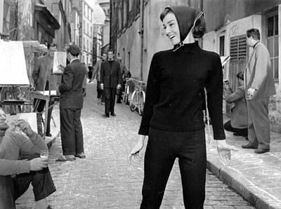 Photograph - Hepburn At Paris by Bert Hardy