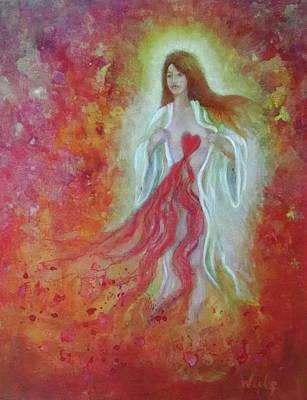 Painting - Her Heart Bleeds by Bernadette Wulf