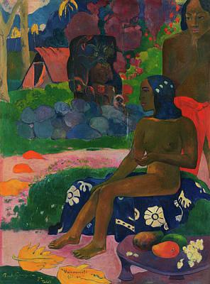 Maori Wall Art - Painting - Her Name Vairaumati, 1892 by Paul Gauguin