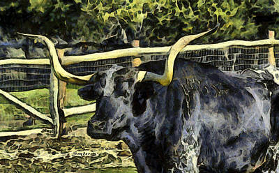 Photograph - Here's The Beef Longhorn Abstract by Floyd Snyder