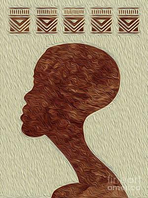 Digital Art - Heritage 4 African Boy Profile by Kenneth Montgomery